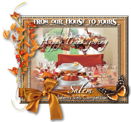 Thank you for this lovely THANKSGIVING Graphic Gift, SALEM!