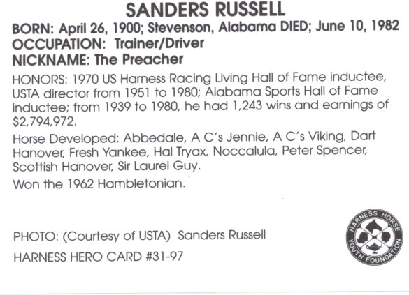 Sanders was born in 'My Home In Alabama'. MORE of his Life Story:HERE